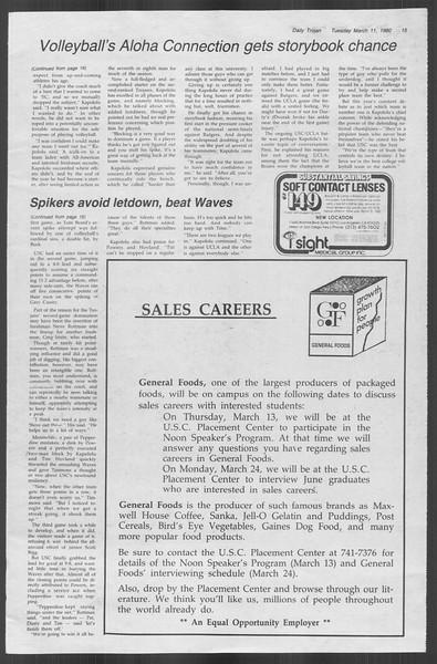 Daily Trojan, Vol. 88, No. 25, March 11, 1980