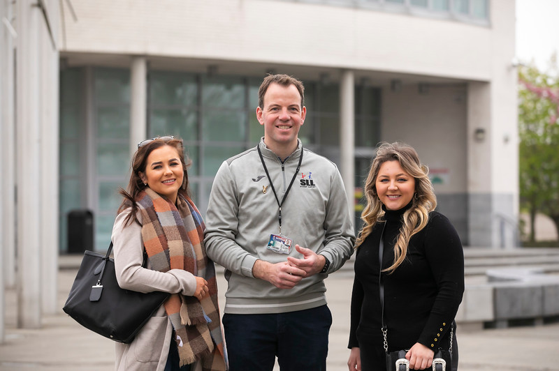 Pictured at Waterford Institute of Technology a the Mature Student Taster Day. Pictured are Sinead Power from Carrick On Suir, Kim Kelly from Mooncoin with Conor Phelan WIT. Picture: Patrick Browne