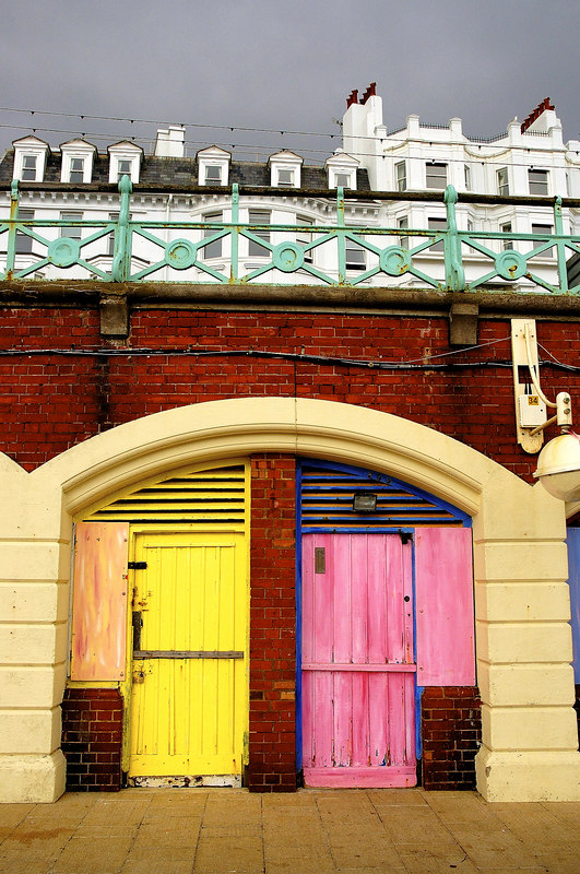 Huts on Brighton Prom