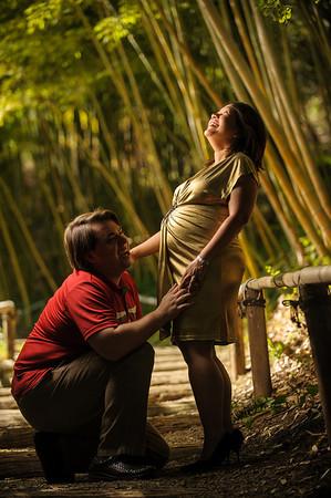 Khin Khin and Josiah (Maternity Photography, Hakone Gardens, Saratoga, California)