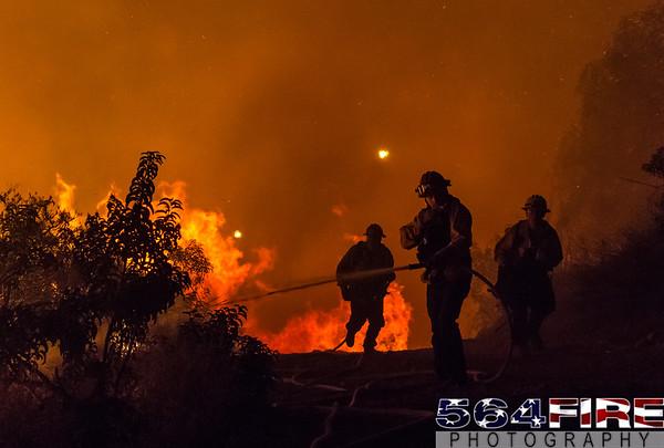 VNC - Potrero Incident - 11-7-15 - Wildland Fire
