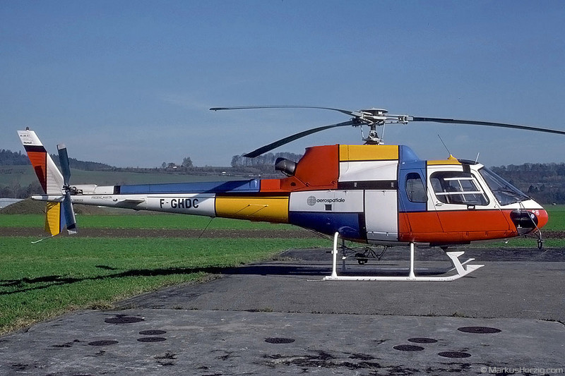 F-GHDC AS350B1 Aerospatiale @ Bern Switzerland 10Nov89