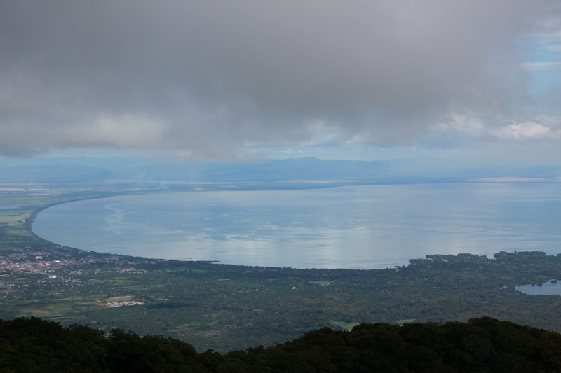 View of Lake Nicaragua from the top of Mombacho volcano