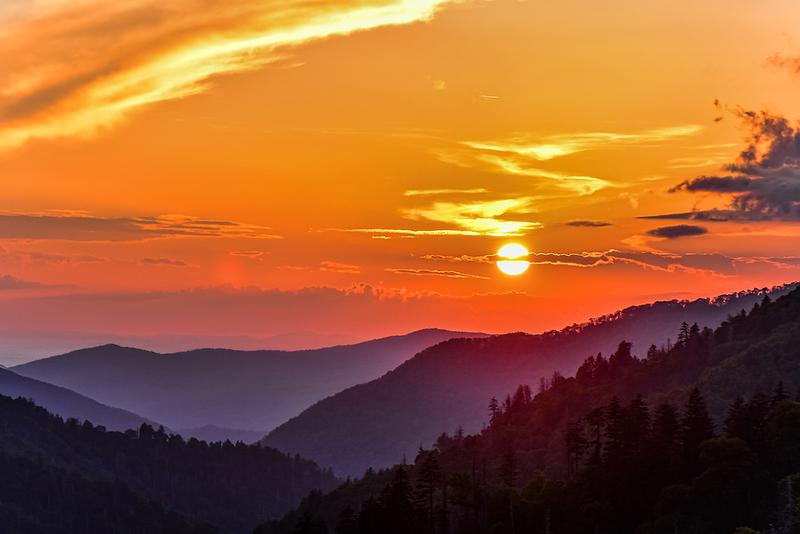 A Smoky Mountains Sunset