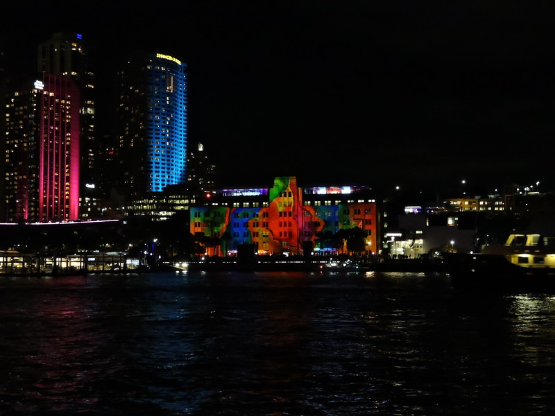 Museum of Contemporary Art Australia and city center from across Sydney Harbor - photo by Pam Baker