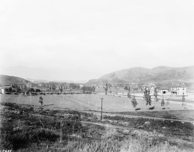 Panoramic view of Highland Park looking northeast from Pasadena Avenue between Avenue 40 and Avenue 41