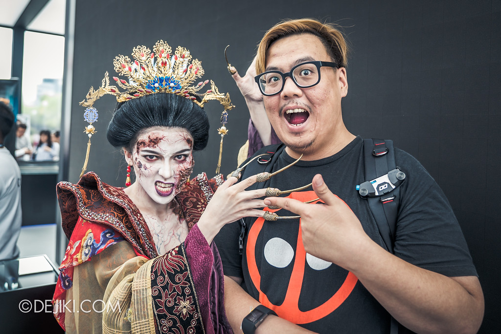 Halloween Horror Nights 7 Preview Construction Update Before Dark 3 - Cruelty Icon Empress Qing, Terrorcotta Empress haunted house wide with Ben