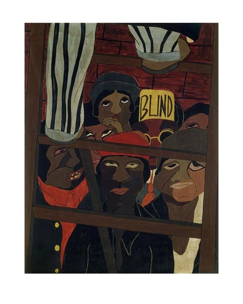 "Jacob Lawrence, ""Street Orator's Audience"" (1936)"