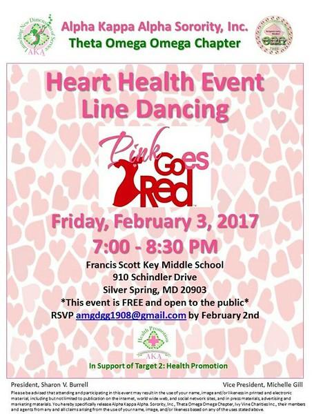 2017-02-03 Heart Health Event Line Dancing