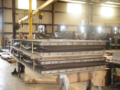 large fabric expansion joints ready for shipping