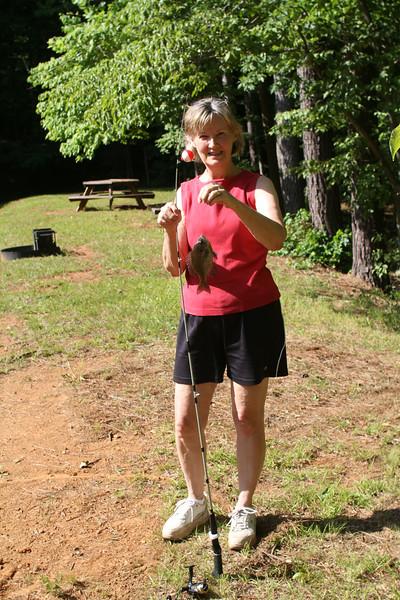 Nana can catch fish too