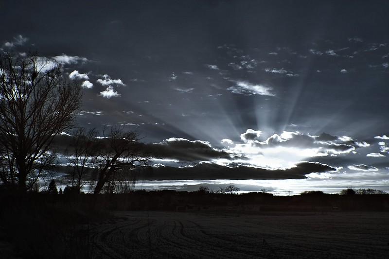 IR západ slunce