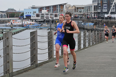 Cardiff Triathlon - Elite Women Run - Lap 1 and 2