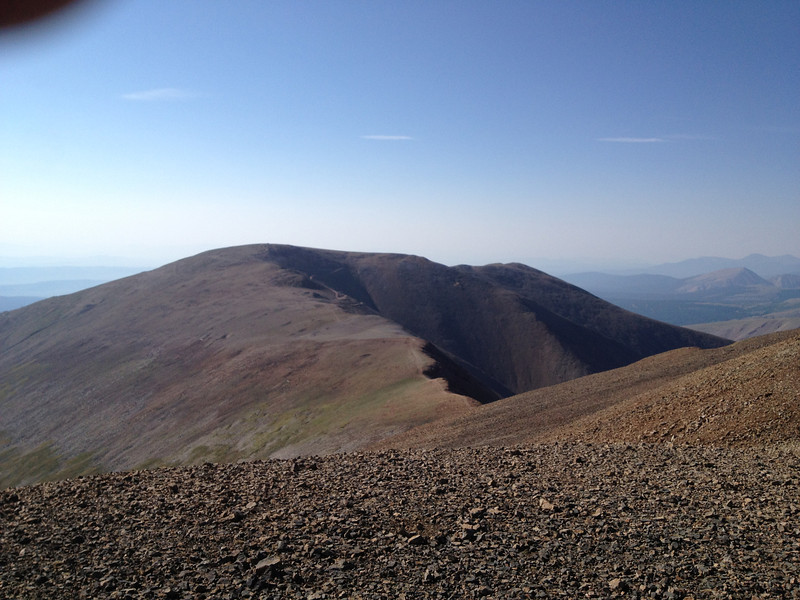 View south to ridge leading to Mt. Bross.