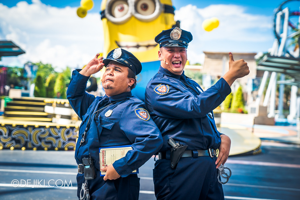 Despicable Me Breakout Party at Universal Studios Singapore / Police Officers introduction