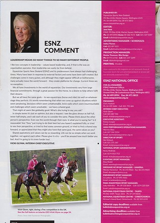 Equestrian Sports New Zealand Bulletin