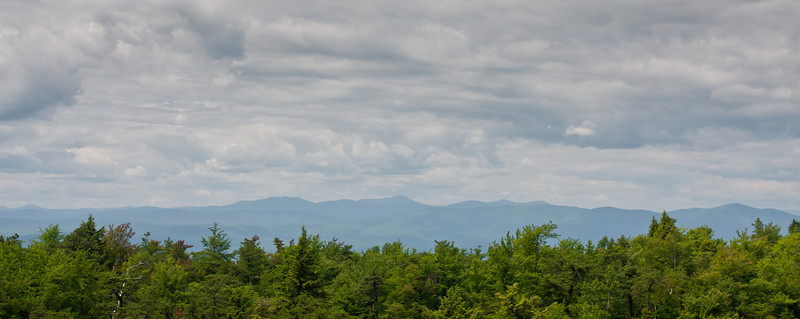 Looking north from Castle Point at Minnewaska State Park to the Catskills