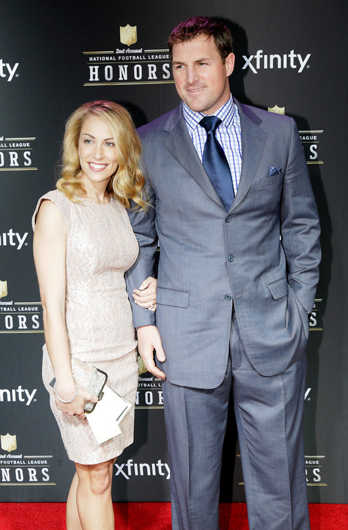 . Jason Witten, right, of the Dallas Cowboys and Michelle Witten arrive at the 2nd Annual NFL Honors on Saturday, Feb. 2, 2013 in New Orleans. (Photo by AJ Mast/Invision/AP)