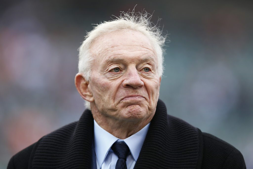 """. 2. JERRY JONES <p>If you had his roster full of flotsam and jetsam, you�d be tampering, too. (unranked) </p><p><b><a href=\""""http://espn.go.com/dallas/story/_/id/11420073/outside-lines-vikings-adrian-peterson-tells-dallas-owner-jerry-jones-wants-cowboy\"""" target=\""""_blank\""""> LINK </a></b> </p><p>   (Joe Robbins/Getty Images)</p>"""