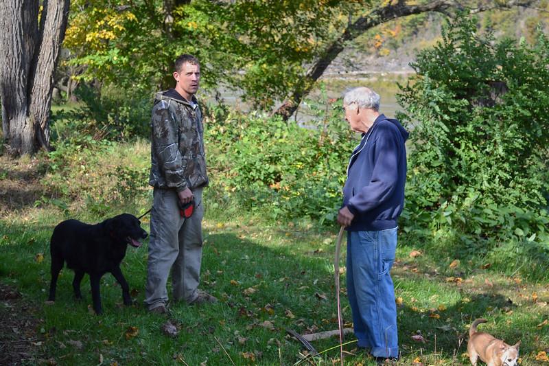 Larry Lebin with Cory.  Oct 16 2011