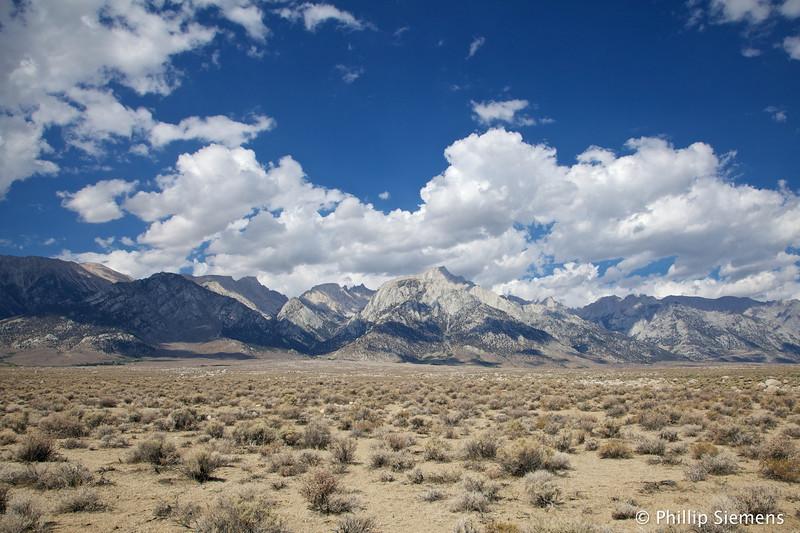 Sierra crest near Lone Pine