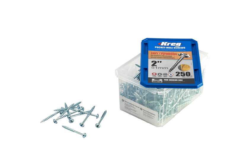 250 pc 51mm Kreg Pocket Hole Screws
