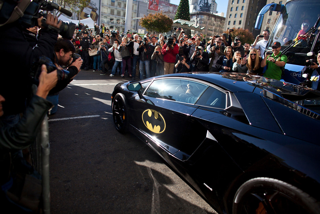 . 5-year-old leukemia survivor Miles, also known as BatKid exits his cave at Union Square November 15, 2013 in San Francisco. Make-A-Wish Greater Bay Area foundation turned the city into Gotham City for Miles by creating a day long event bringing his wish to be a BatKid to life. (Photo by Ramin Talaie/Getty Images)
