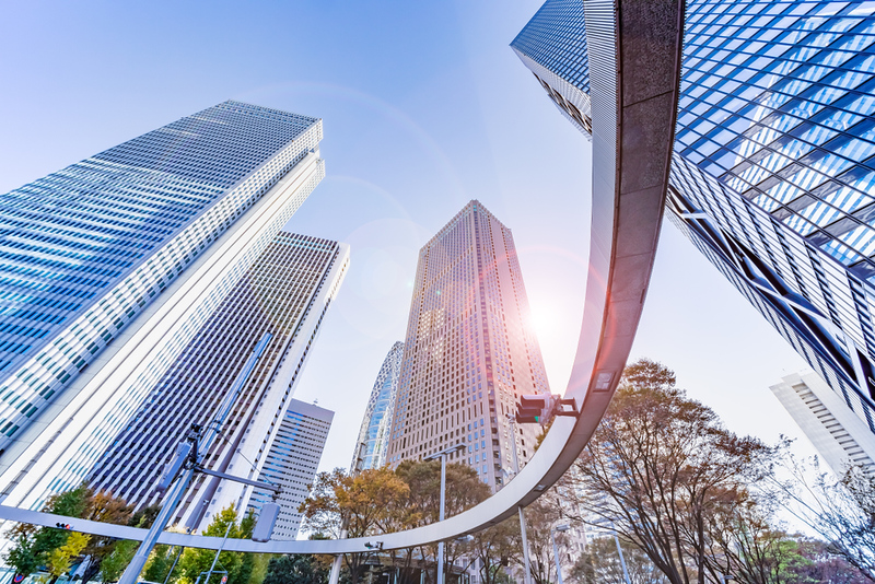 Skyscrapers in Shinjuku. Editorial credit: taka1022 / Shutterstock.com