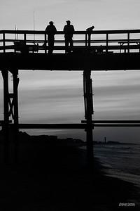 """A Good Day Fishing"" - Yaupon Beach Fishing Pier - Yaupon Beach, Oak Island, North Carolina"