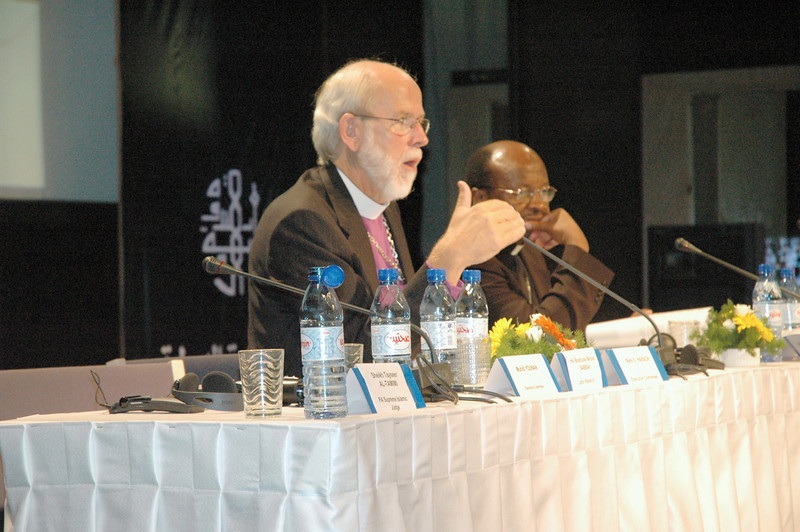 Bishop Mark Hanson, ELCA presiding bishop and LWF president, presided over the Aug. 31-Sept. 6 meeting of the LWF Council in Jerusalem and Bethlehem.  Next to Hanson is the Rev. Ishmael Noko, LWF general secretary.