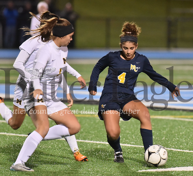 Mars vs Montour WPIAL Class 3A girls soccer quarter final  playoff game at Seneca Valley Nextier stadium