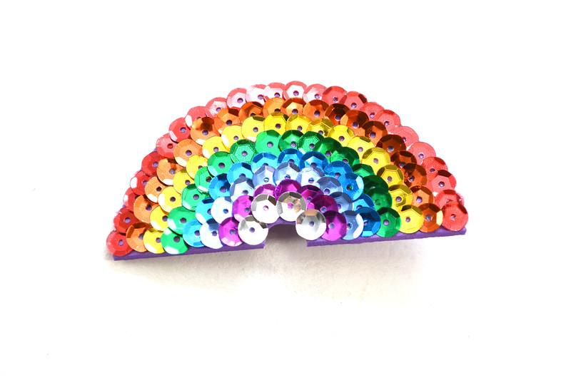 Sequin Rainbow Hair Barrettes