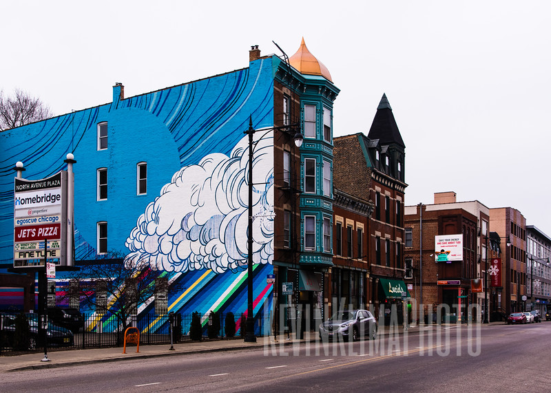 Mural on North Ave in Wicker Park
