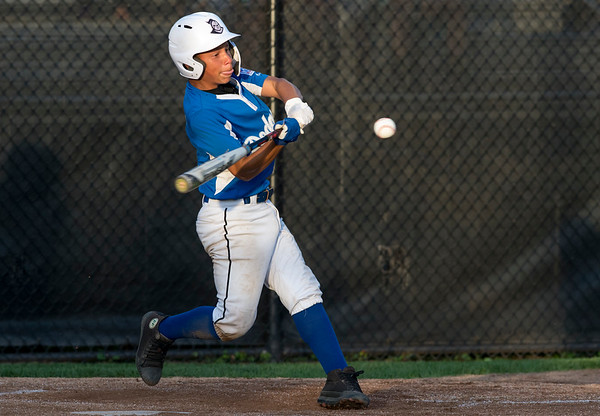08/26/19 Wesley Bunnell | Staff The McCabe-Waters Astros defeated the Forrestville Dodgers 3-0 at Breen Field on Monday night in the city series to force a winner takes all on Wednesday. Aiden Lopez (21).