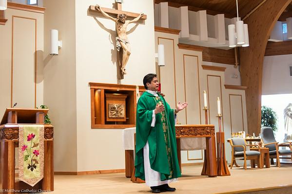 Father Peter's First Weekend at St Matthew (10:30 Mass)