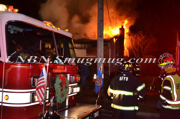 South Farmingdale F.D. House Fire 346 Balchen St. 12-19-14