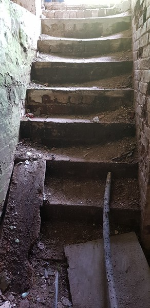 Well worn steps.