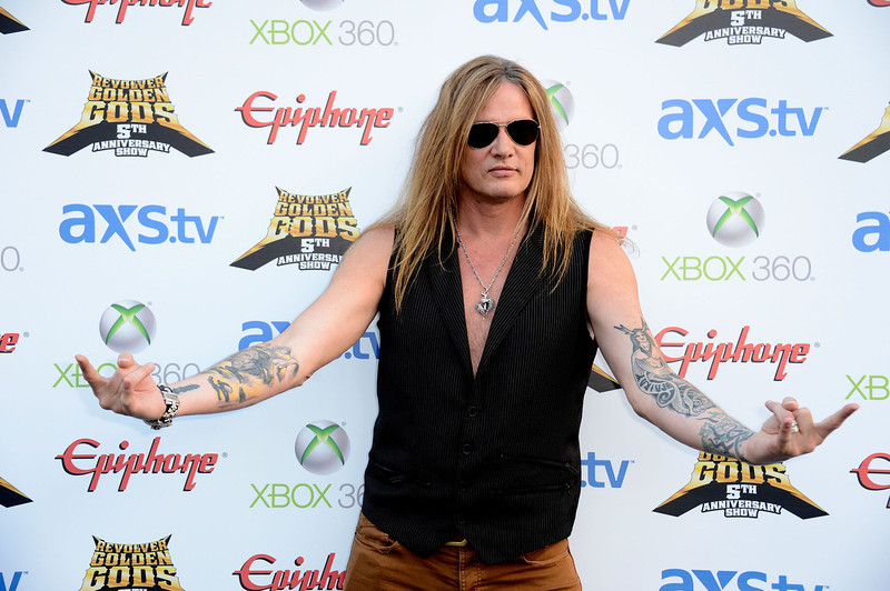 . Sebastian Bach of Skid Row arrives at the 5th Annual Revolver Golden Gods Award Show  at Club Nokia on May 2, 2013 in Los Angeles, California.  (Photo by Frazer Harrison/Getty Images)