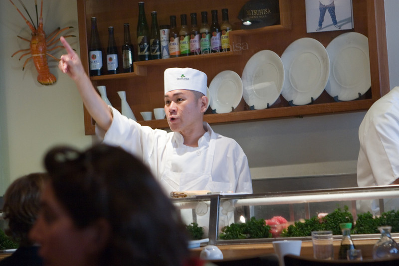 the sushi bar chef that we usually get...