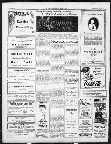 The Southern California Trojan, Vol. 15, No. 78, April 29, 1924