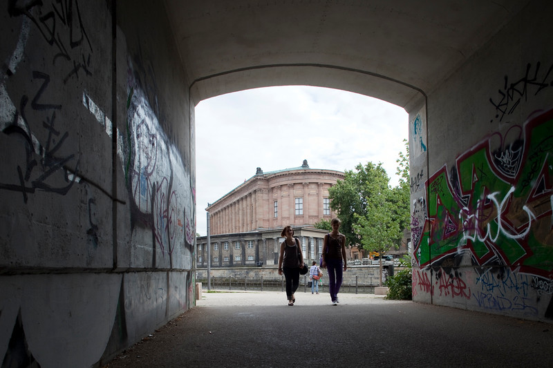 Passageway facing Museum Island, Berlin, Germany