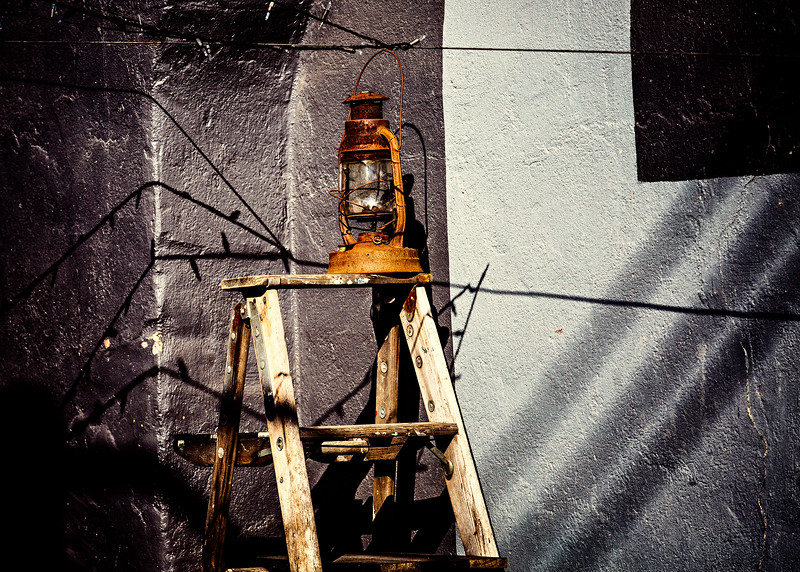 Lantern on a Ladder