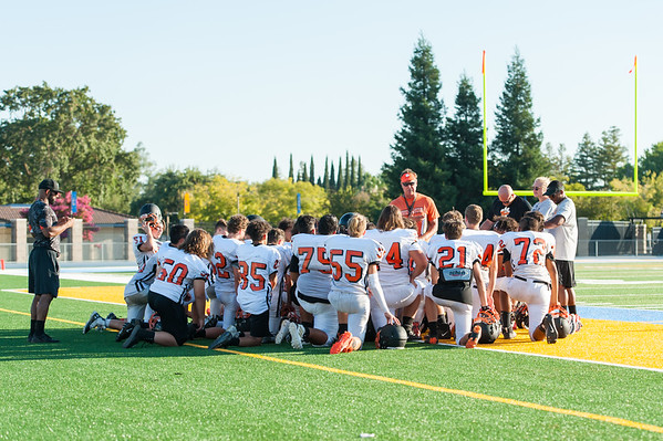 Roseville High School JV Football Scrimmage vs Center & Woodland 8-16-19