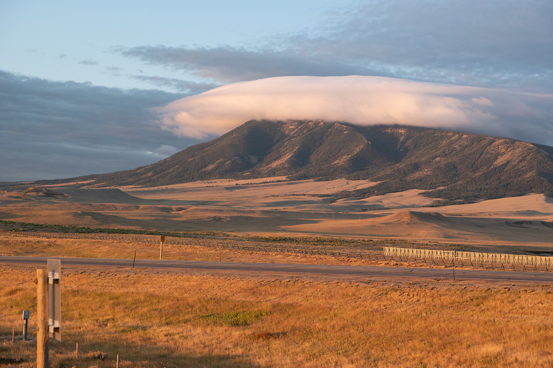 Elk Mountain Wyoming Cloud Crown Sunrise