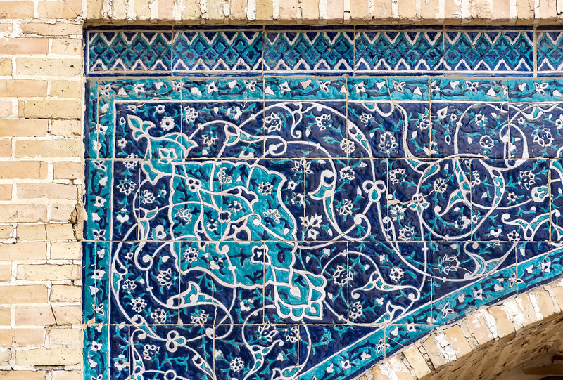 Ornate Tilework, Bukhara