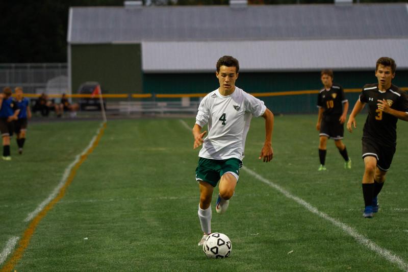 Holy Family Boys Varsity Soccer vs. Hutchinson, 9/26/19: Charlie Ficek '22 (4)