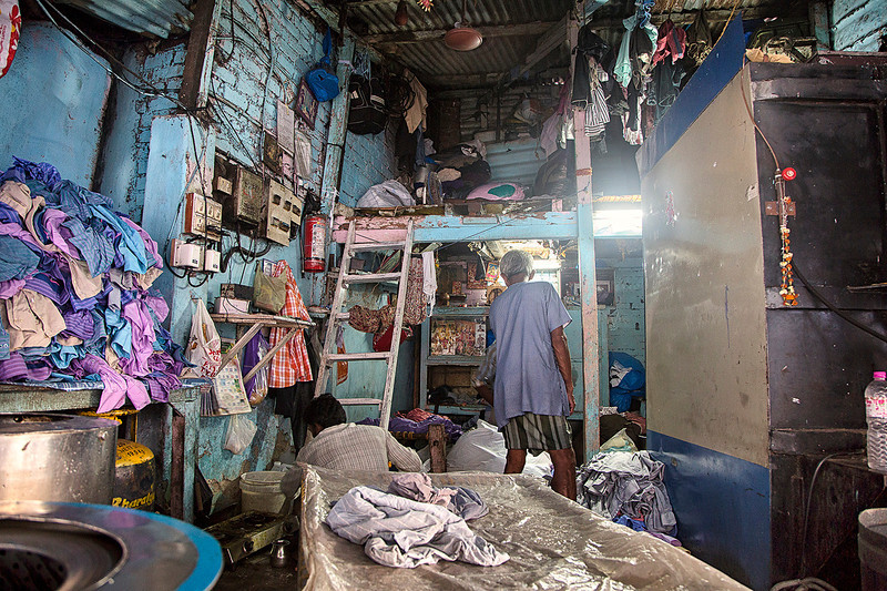Living inside Dhobi Ghat