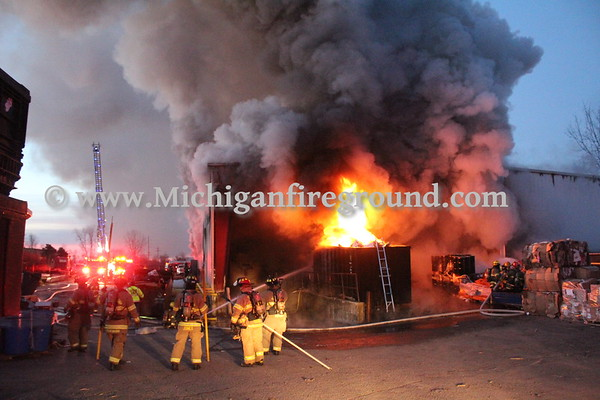 12/15/20 - Mason commercial building fire, 655 Hull Rd