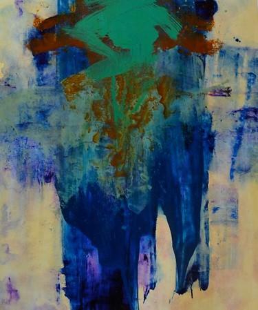 "Abstraction with a Splash-R  Hall, 36""x30"" on canvas (AEPAG13-11-05) JPG"
