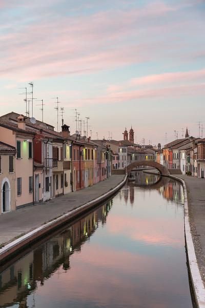 Via San Pietro - Comacchio, Ferrara, Italy - June 10, 2017